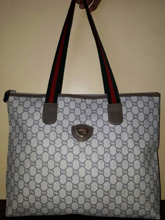 A Gucci Plus monogram tote - - Tips on Original Gucci Bags on Sale - How to Tell if a Gucci Bag is Real