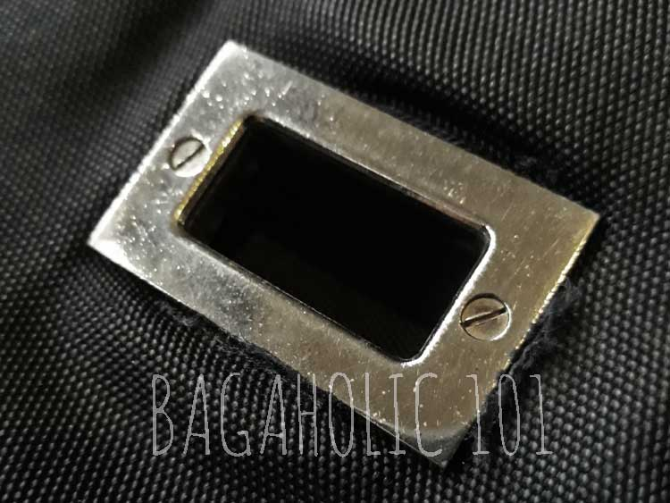 A flat phillips screw head (-) on an authentic Gucci bag hardware - Tips on Original Gucci Bags on Sale - How to Tell if a Gucci Bag