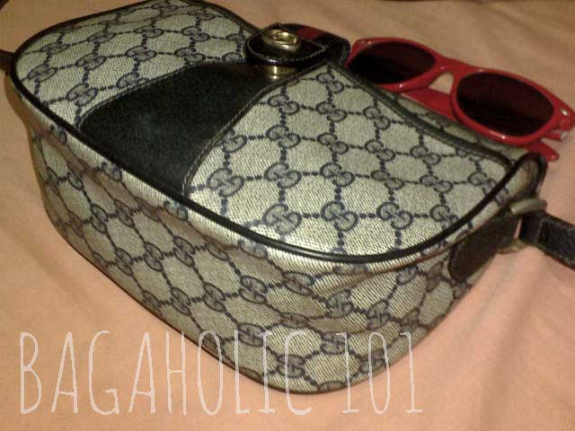 A navy vintage Gucci Accessory Collection crossbody bag - Vintage Gucci Bag Authentication - Gucci Serial Number Check - How to Tell if a Gucci Bag is Real