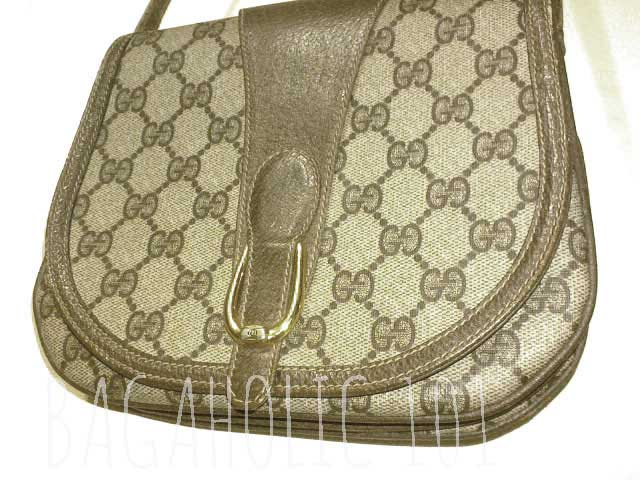 A vintage Gucci Accessory Collection saddlebag - Vintage Gucci Bag Authentication - Gucci Serial Number Check - How to Tell if a Gucci Bag is Real