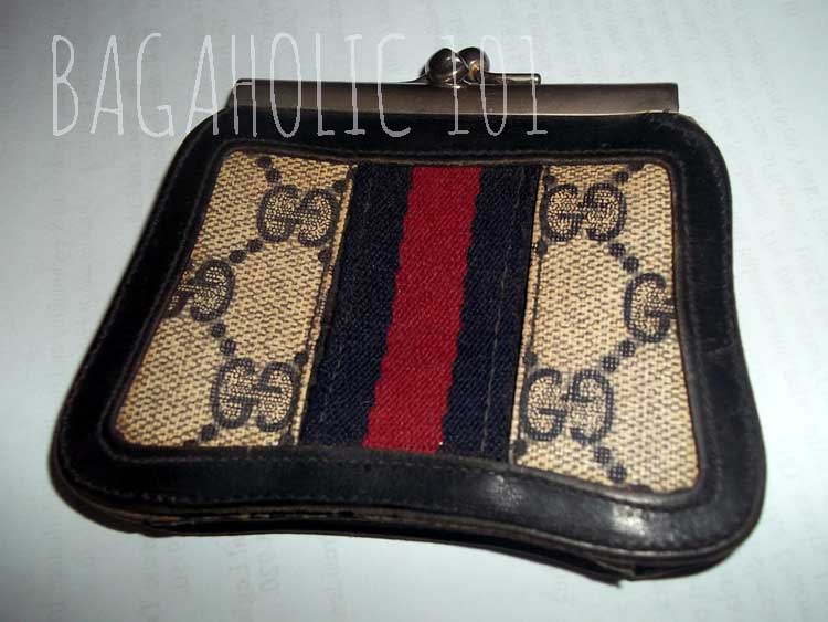 A vintage Gucci Accessory Collection wallet with red and green strip - Vintage Gucci Bag Authentication - Gucci Serial Number Check - How to Tell if a Gucci Bag is Real