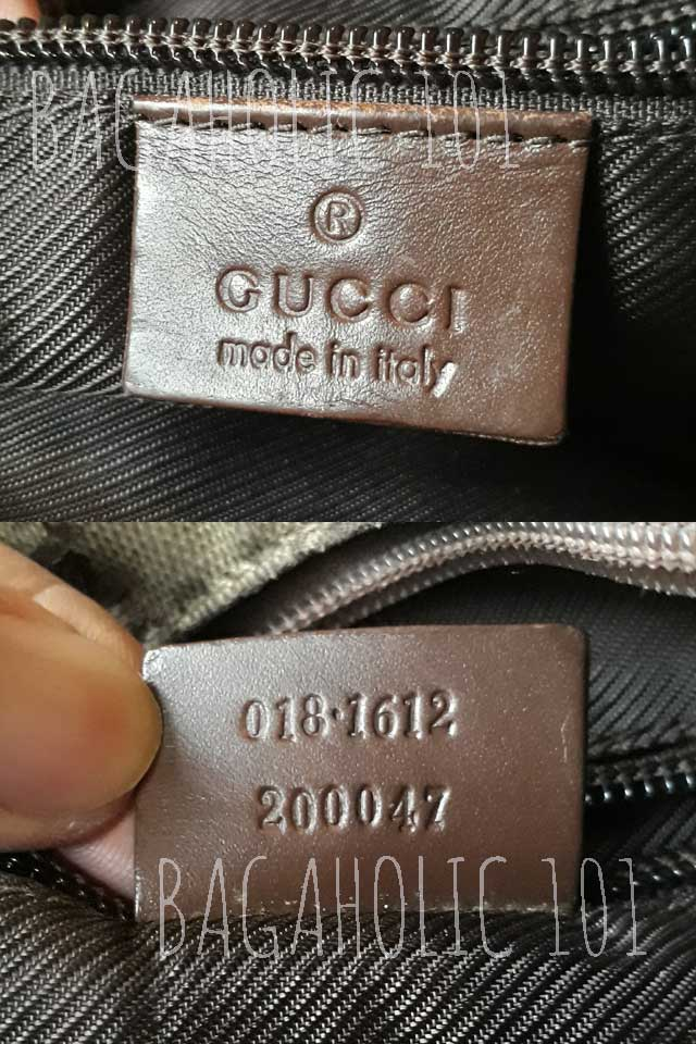 Another authentic Gucci bag with serial number 018.1612 200047 - Gucci Serial Number Check - How to Tell if a Gucci Bag is Real