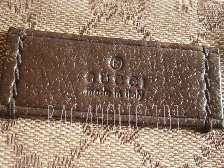 Another leather rectangle tag on brown Gucci monogram canvas - Tips on Original Gucci Bags on Sale - How to Tell if a Gucci Bag is Real