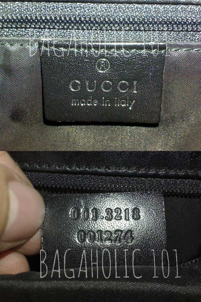 Authentic Gucci bag's serial number 001.3218 001274 - Ultimate Guide Before Buying Purses on Ebay