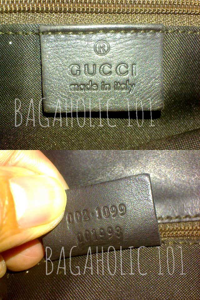 Bag serial number of authentic Gucci 002.1099 001998 - Gucci Serial Number Check - How to Tell if a Gucci Bag is Real