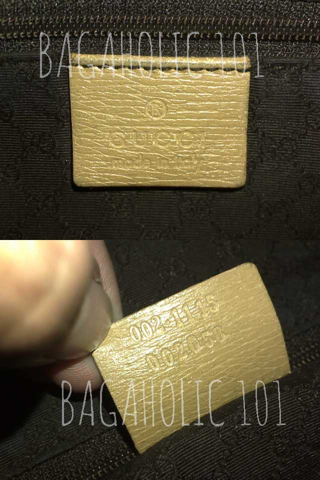 8b8fc6929 Bag serial number of authentic Gucci 002.115 002058 - Gucci Serial Number  Check - How to