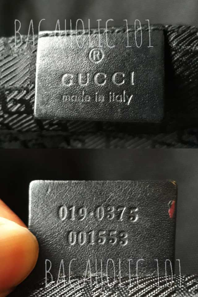 Bag serial number of authentic Gucci 019.0375 001553 - Gucci Serial Number Check - How to Tell if a Gucci Bag is Real