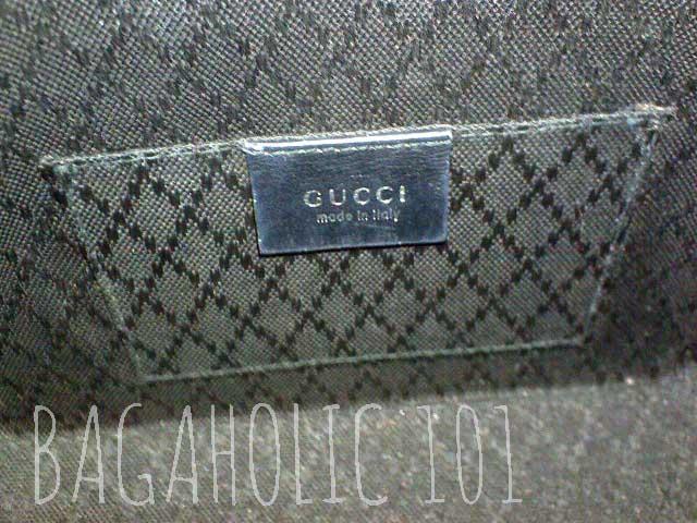 Black diamante lining of an authentic Gucci bag - Tips on Original Gucci Bags on Sale - How to Tell if a Gucci Bag is Real