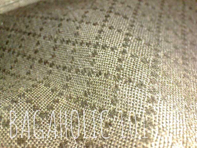 Brown diamante lining of an authentic Gucci bag - Tips on Original Gucci Bags on Sale - How to Tell if a Gucci Bag is Real