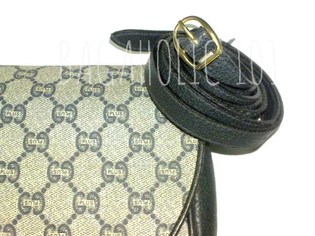 Close-up of the monogram canvas of a Gucci Plus bag - Tips on Original Gucci Bags on Sale - How to Tell if a Gucci Bag is Real