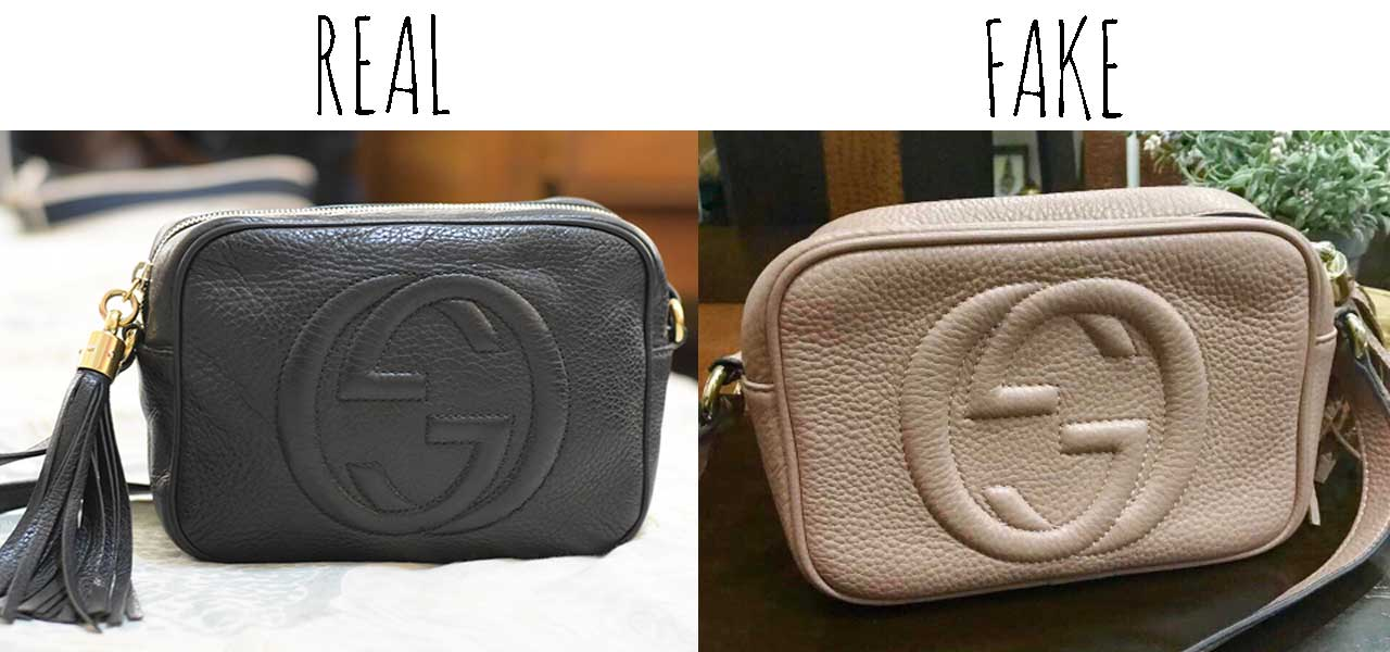 Comparing a Real vs. Fake Gucci Soho bag - Tips on Original Gucci Bags on Sale - How to Tell if a Gucci Bag is Real