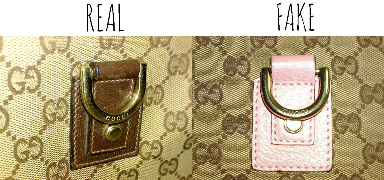 D-ring details -Comparing a Real vs. Fake Gucci Abbey Crossbody bag - Tips on Original Gucci Bags on Sale - How to Tell if a Gucci Bag is Real