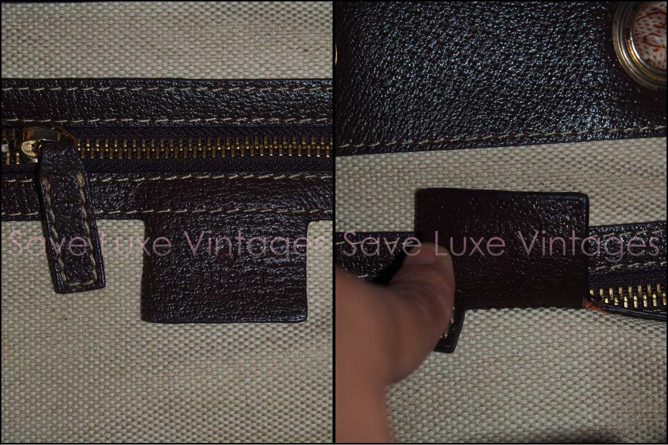 Fake Gucci Positano Monogram Canvas bag with serial number 153033 9771 - Gucci Serial Number Check - How to Tell if a Gucci Bag is Real
