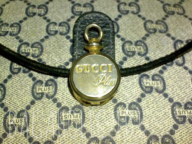 Gold-tone hardware of a Gucci Plus bag - Vintage Gucci Bag Authentication - Gucci Serial Number Check - How to Tell if a Gucci Bag is Real