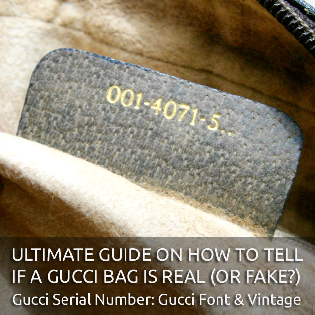 Gucci Logo Font and Gucci Vintage Serial Number - 'Authentic Gucci Bag' - Ultimate Guide on How to Tell if a Gucci Bag is Real or Fake - Bagaholic 101