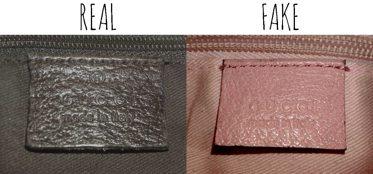 Gucci leather tag - Comparing a Real vs. Fake Gucci Abbey Crossbody bag - Tips on Original Gucci Bags on Sale - How to Tell if a Gucci Bag is Real