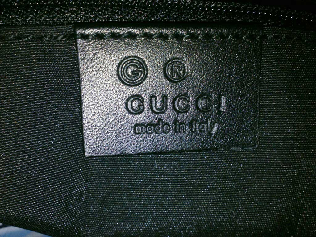 Gucci leather tag marked with G for outlet store 3 - Tips on Original Gucci Bags on Sale - How to Tell if a Gucci Bag is Real