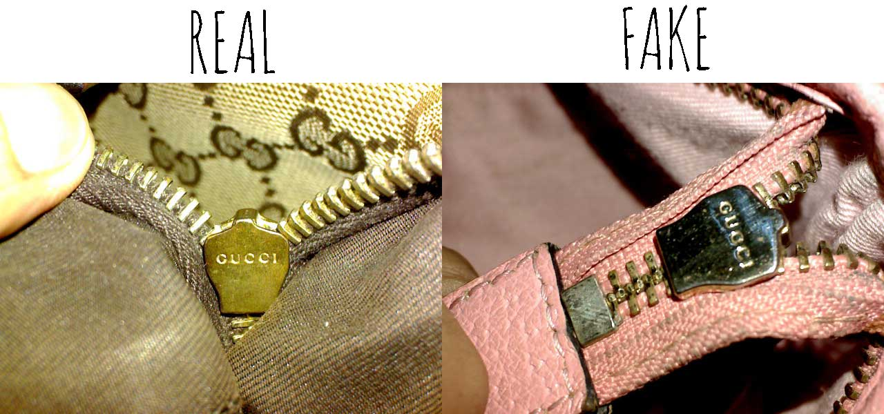 Gucci zipper mark - Comparing a Real vs. Fake Gucci Abbey Crossbody bag - Tips on Original Gucci Bags on Sale - How to Tell if a Gucci Bag is Real