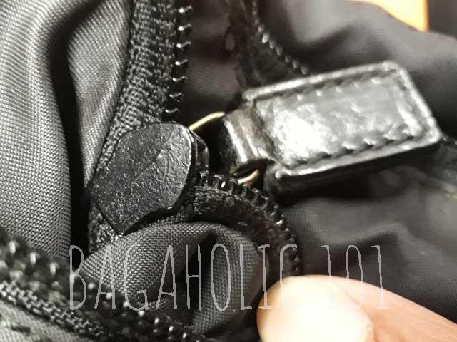 258b7e1c16c Non-marked underneath of a black authentic Gucci zipper - Tips on Original  Gucci Bags