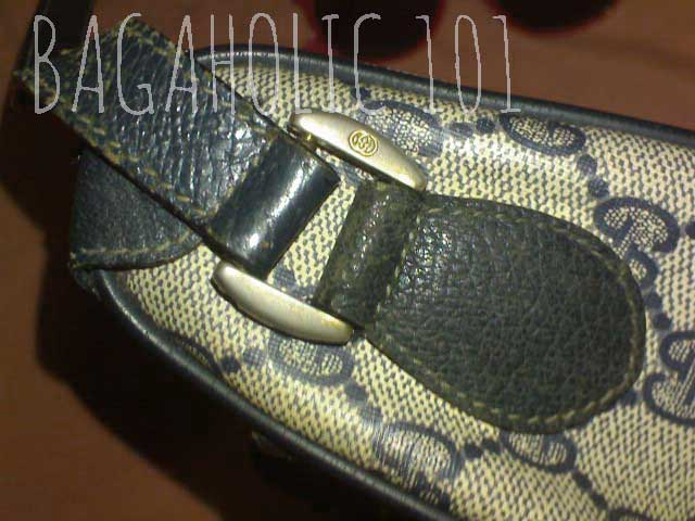 Pigskin leather and GG engraved gold tone hardware - Vintage Gucci Bag Authentication - Gucci Serial Number Check - How to Tell if a Gucci Bag is Real