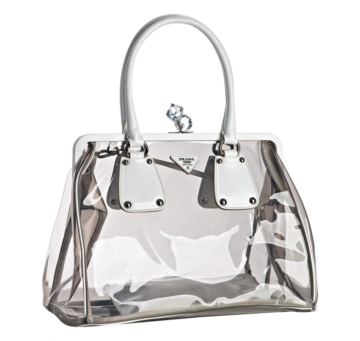 83d9dc3ff07a48 hot prada bag made from pvc the see through trend was all the rage in the