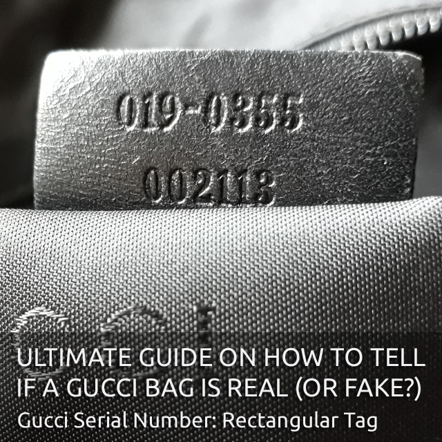 Rectangular Gucci Leather Tag - 'Authentic Gucci Bag' - Ultimate Guide on How to Tell if a Gucci Bag is Real or Fake - Bagaholic 101