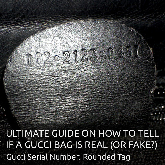 Rounded Gucci Leather Tag 1990s - 'Authentic Gucci Bag' - Ultimate Guide on How to Tell if a Gucci Bag is Real or Fake - Bagaholic 101