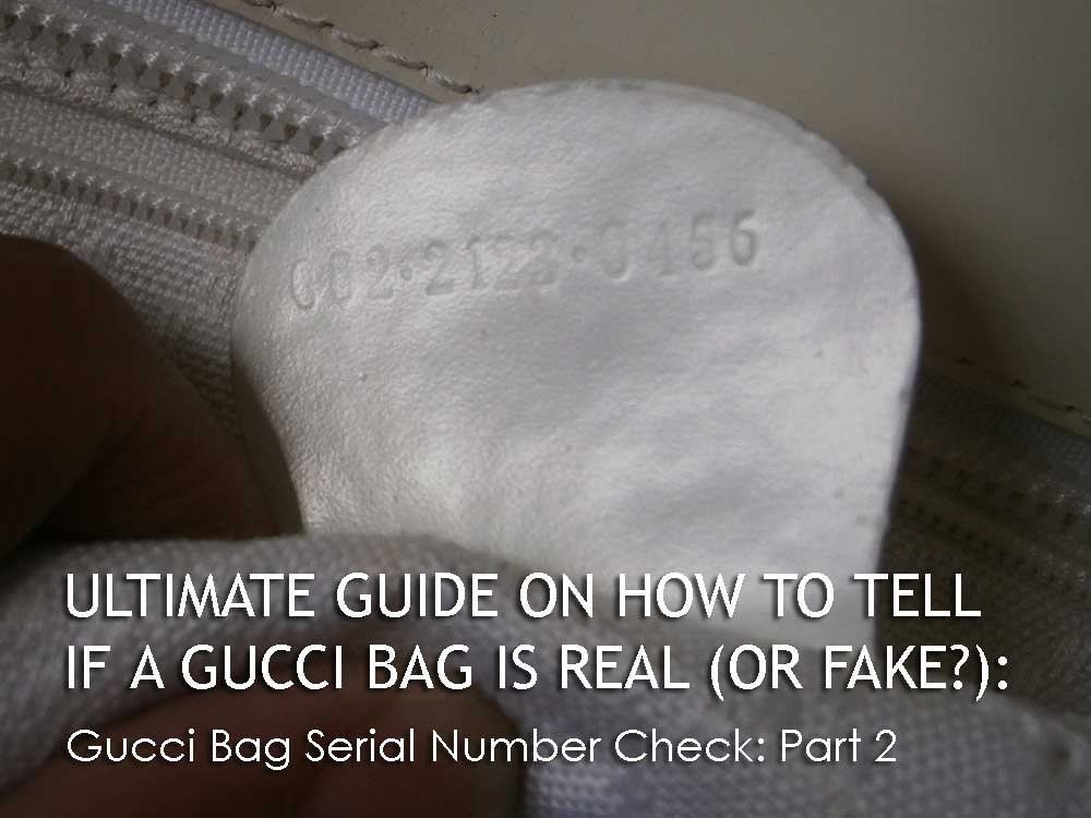 Serial Number Part 2 - The Gucci Material - Ultimate Guide Before Buying Gucci Purses on Ebay - How to Tell if a Gucci Bag is Real (or Fake)