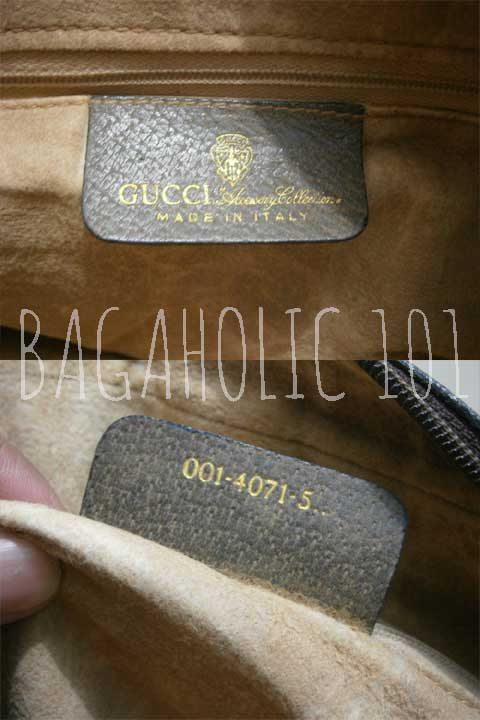 Vintage Gucci Accessory Collection bag with serial number 001-4071-5.. - Vintage Gucci Bags - Gucci Serial Number Check - How to Tell if a Gucci Bag is Real