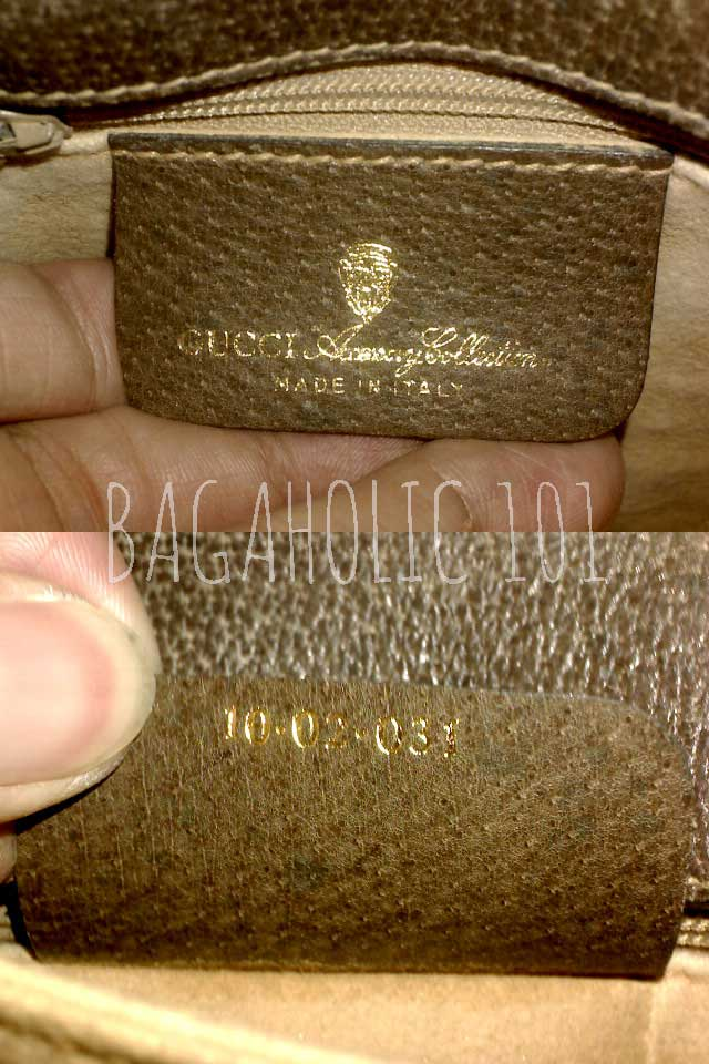 Vintage Gucci Accessory Collection bag with serial number 10.02.031 - Vintage Gucci Bags - Gucci Serial Number - How to Tell if a Gucci Bag is Real