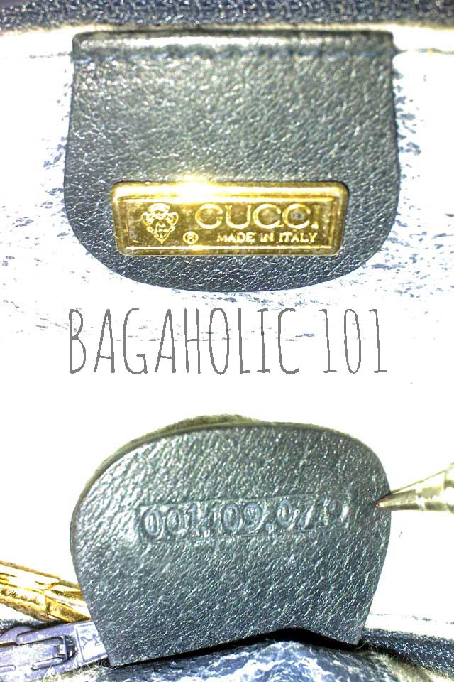 Vintage Gucci bag with serial number 001.109.0719 - Vintage Gucci Bags - Gucci Serial Number Check - How to Tell if a Gucci Bag is Real