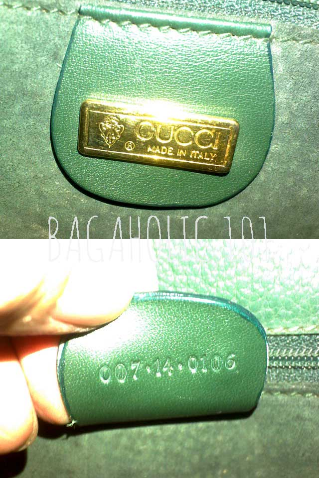 Vintage Gucci bag with serial number 007.14.0106 - Vintage Gucci Bags - Gucci Serial Number Check - How to Tell if a Gucci Bag is Real