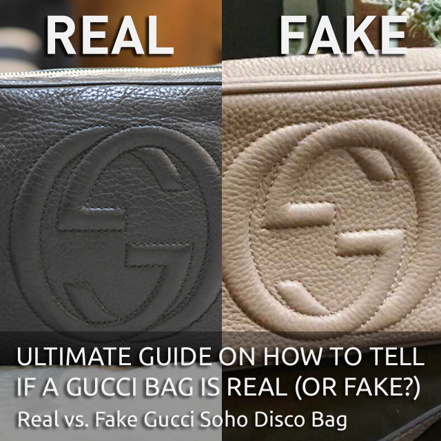 Compare Real vs. Fake Gucci Soho Disco Camera Leather Bag - 'Authentic Gucci Bag' - Ultimate Guide on How to Tell if a Gucci Bag is Real or Fake - Bagaholic 101