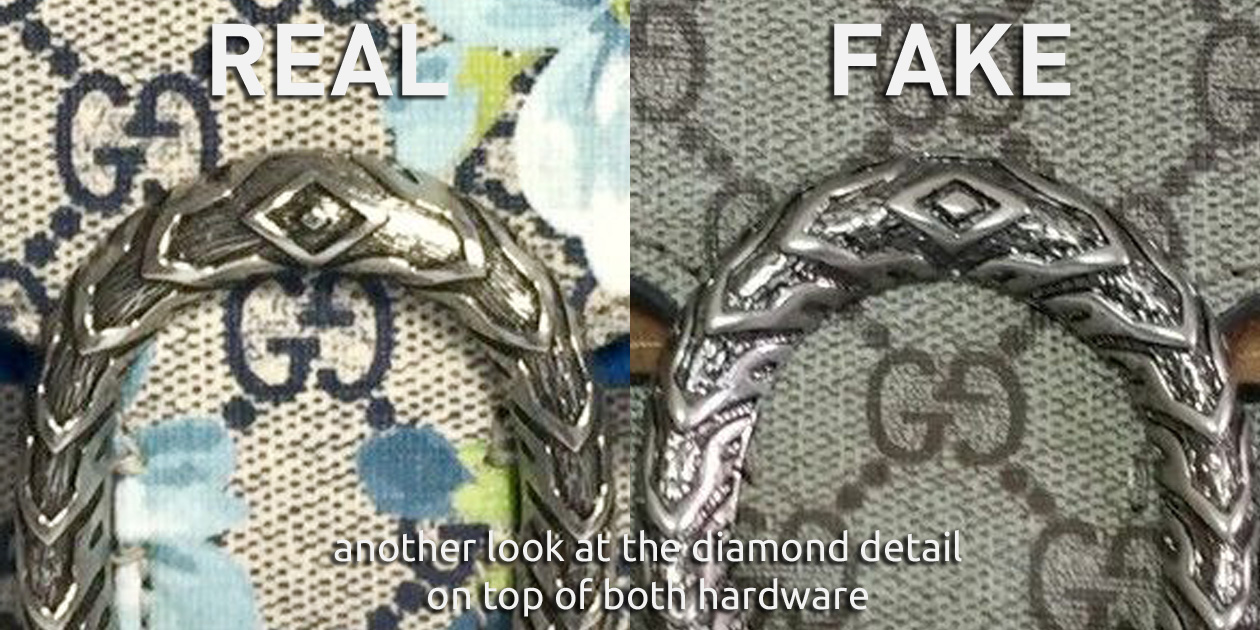 Another Comparison of the Diamond Detail of the Tiger Head Hardware