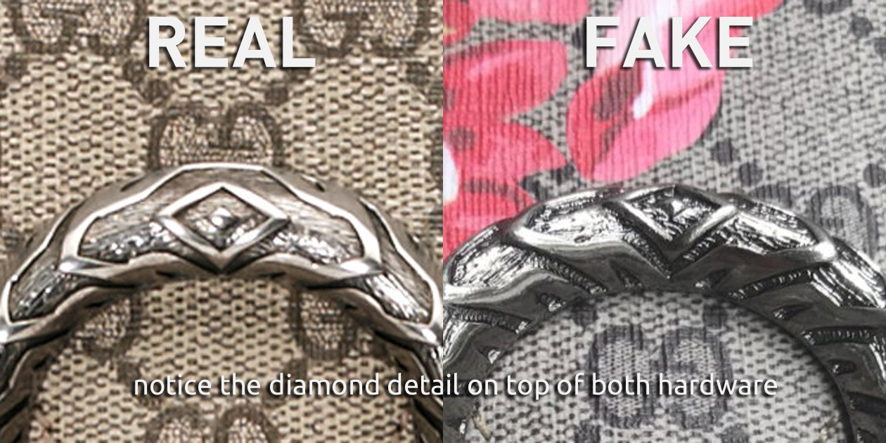 Difference of the Diamond Detail of the Tiger Head Hardware