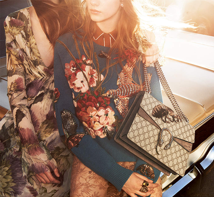 Gucci Fall Winter 2015 Ad Campaign Featuring the Gucci Dionysus Bag