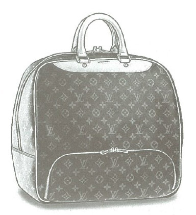 Louis Vuitton Monogram Canvas Evasion (Sports bag with shoe compartment) M41443