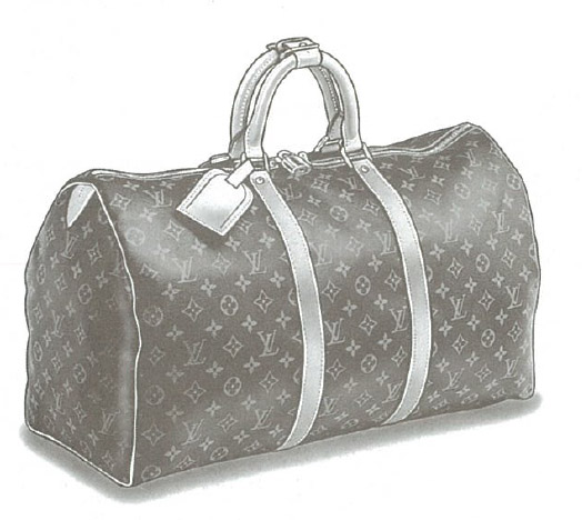 Louis Vuitton Monogram Canvas Keepall bag M41422, M41424, M41426, M41428