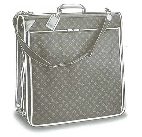 Louis Vuitton Monogram Canvas Portable bandoulière (Garment bag with shoulder strap) M23416, M23418