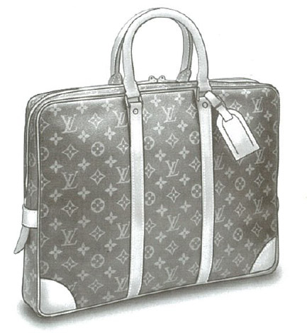 Louis Vuitton Monogram Canvas Porte-documents voyage bag M53361