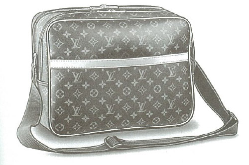 Louis Vuitton Monogram Canvas Reporter messenger bag M45254