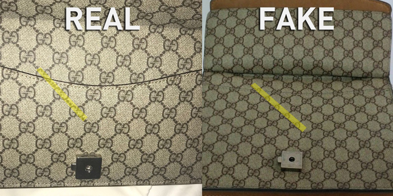 Monogram Canvas Straight Alignment - Real vs Fake Gucci Dionysus Bag - Bagaholic 101