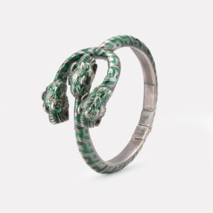 Vintage Tiger Head Gucci bangle from the 1970s, inspiration of the Gucci Dionysus hardware
