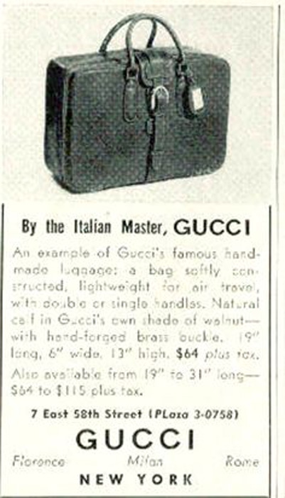 Bagaholic 101 - Gucci Heritage, Icons, and Beyond - Vintage Gucci print advertisement referring to Gucci as 'the Italian Master'