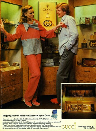 1980 Gucci advertisement for American Express - Vintage Gucci advertising campaigns archive