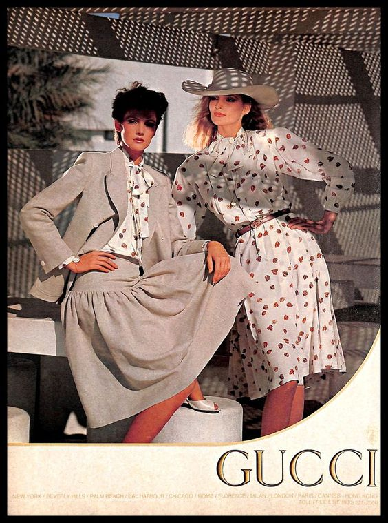 1981 Gucci Spring Summer print ad