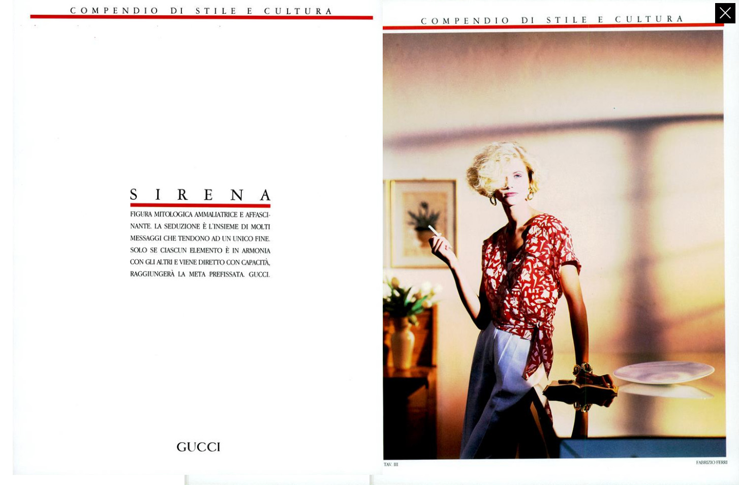 1985 Gucci Spring Summer spread - Vintage Gucci advertising campaigns archive