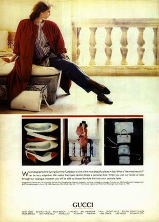 1986 Gucci print ad - Vintage Gucci advertising campaigns archive