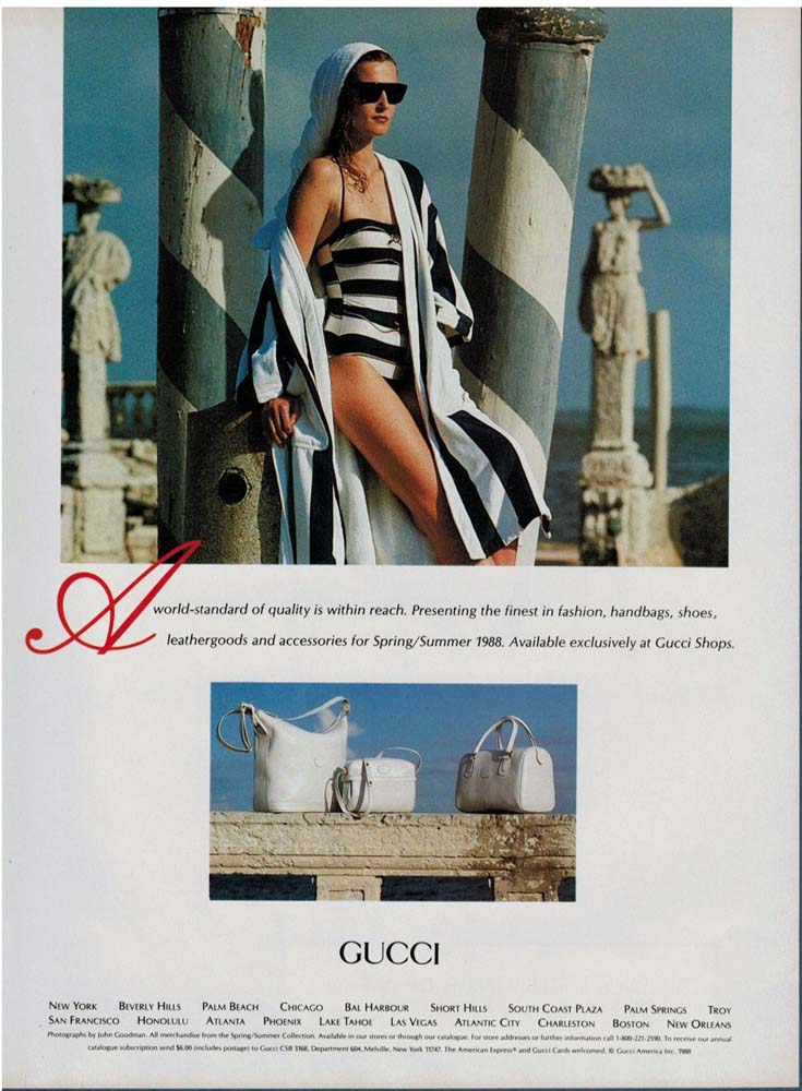1988 Gucci Spring Summer 1988 print ad - Vintage Gucci advertising campaigns archive