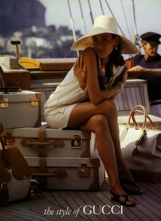 1991 Gucci Spring Summer luggage set - Vintage Gucci advertising campaigns archive